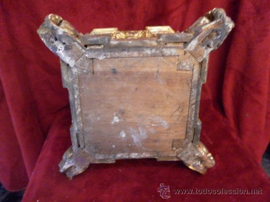 Antigüedades: Sagrario / Custodia. Siglo XVII / XVIII. Madera policromada en dorado. - Foto 11 - 30838526