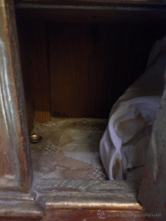 Antigüedades: Sagrario / Custodia. Siglo XVII / XVIII. Madera policromada en dorado. - Foto 10 - 30838526