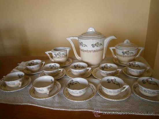 Antigüedades: PRECIOSO JUEGO DE CAFE-TE. OCHIES - MOULIN DES LOUPS. LISTO PARA USAR - Foto 2 - 30855843