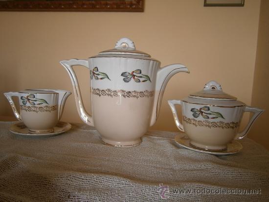 Antigüedades: PRECIOSO JUEGO DE CAFE-TE. OCHIES - MOULIN DES LOUPS. LISTO PARA USAR - Foto 3 - 30855843