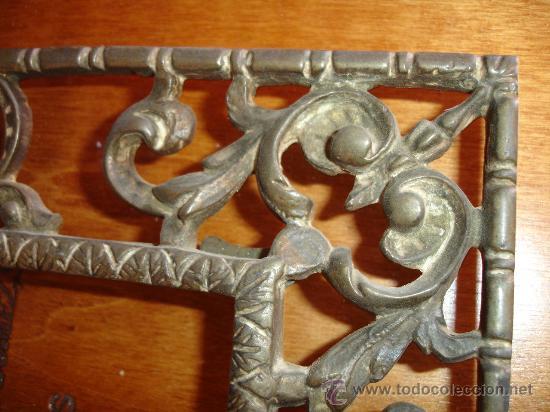 Antigüedades: PRECIOSO MARCO DE BRONCE PARA FOTOS - MUY SOLIDO Y EN IMPECABLE ESTADO 30X25CMS. - Foto 3 - 30855932