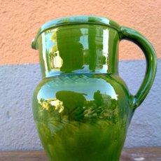 Antigüedades: PRECIOSA JARRA DE BARRO VIDRIADA.. Lote 30861478