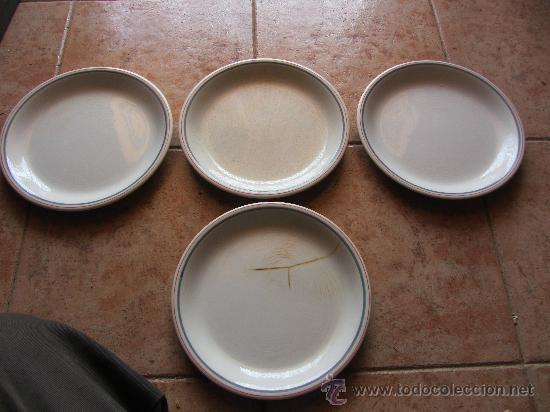 ANTIGUOS PLATOS DE CERAMICA PONTESA (Antigüedades - Porcelanas y Cerámicas - Santa Clara)