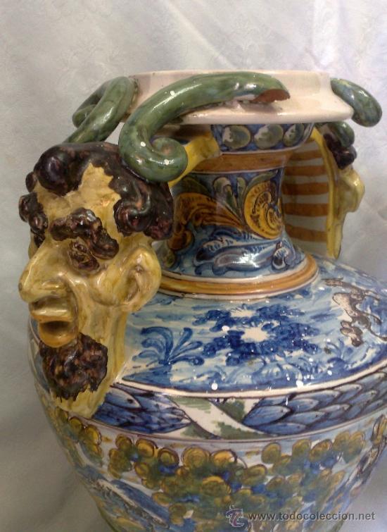 Antigüedades: EXCELENTE PAREJA DE GRANDES JARRONES EN CERÁMICA TALAVERANA DE NIVEIRO S. XIX. - Foto 15 - 28227591