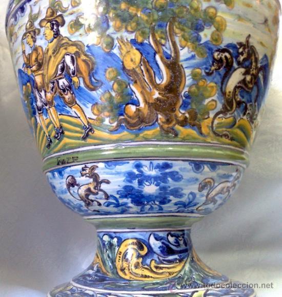 Antigüedades: EXCELENTE PAREJA DE GRANDES JARRONES EN CERÁMICA TALAVERANA DE NIVEIRO S. XIX. - Foto 6 - 28227591