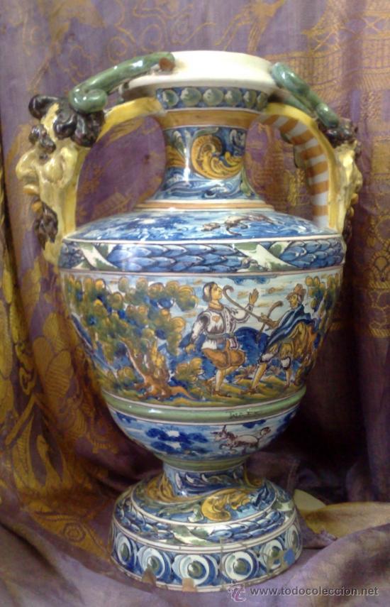 Antigüedades: EXCELENTE PAREJA DE GRANDES JARRONES EN CERÁMICA TALAVERANA DE NIVEIRO S. XIX. - Foto 17 - 28227591