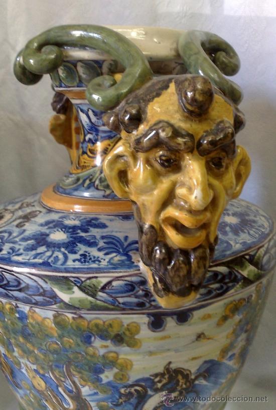 Antigüedades: EXCELENTE PAREJA DE GRANDES JARRONES EN CERÁMICA TALAVERANA DE NIVEIRO S. XIX. - Foto 14 - 28227591