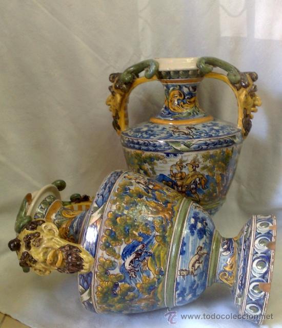 Antigüedades: EXCELENTE PAREJA DE GRANDES JARRONES EN CERÁMICA TALAVERANA DE NIVEIRO S. XIX. - Foto 13 - 28227591