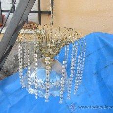 Antigüedades: LAMPARA DE LÁGRIMAS TIPO FUENTE. SIN LA TULIPA. Lote 30865196