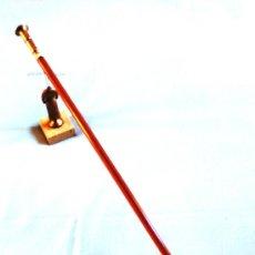 Antigüedades: (BASTONES) BASTÓN ARTESANAL DE DISEÑO MANO DE ALMIREZ DE BRONCE ANTIGUA- ¡PROMOCION 30% EN BASTONES!. Lote 30873367