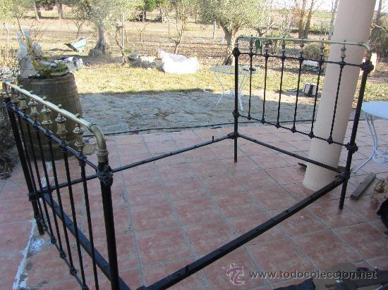 Antigua cama de laton y hierro forjado 120x200 comprar - Camas antiguas de hierro ...