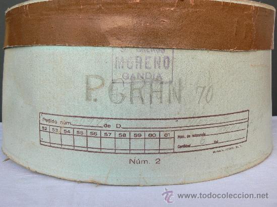 Antigüedades: SOMBRERO DE HOMBRE CON CAJA ORIGINAL.SOMBREROS MORENO.JOSE MORENO. GANDIA. - Foto 8 - 30882065