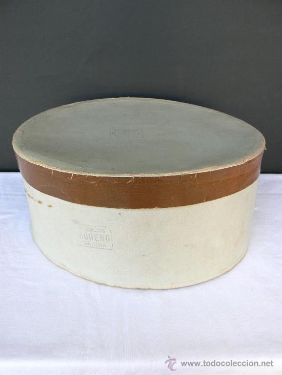 Antigüedades: SOMBRERO DE HOMBRE CON CAJA ORIGINAL.SOMBREROS MORENO.JOSE MORENO. GANDIA. - Foto 9 - 30882065