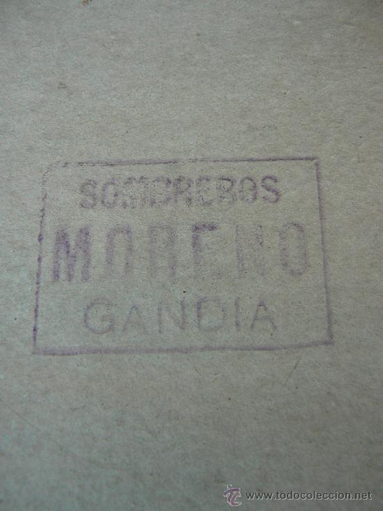 Antigüedades: SOMBRERO DE HOMBRE CON CAJA ORIGINAL.SOMBREROS MORENO.JOSE MORENO. GANDIA. - Foto 10 - 30882065