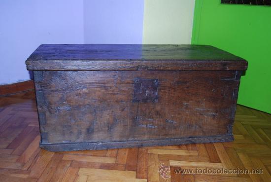 Antiguo arc n de gran tama o en madera de encin comprar - Baules antiguos de madera ...