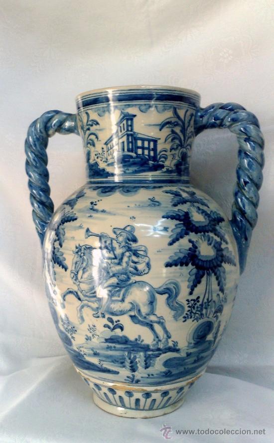 Antigüedades: RUIZ DE LUNA.- JARRÓN EN CERÁMICA DE TALAVERA. PPOS. XX - Foto 16 - 30021060