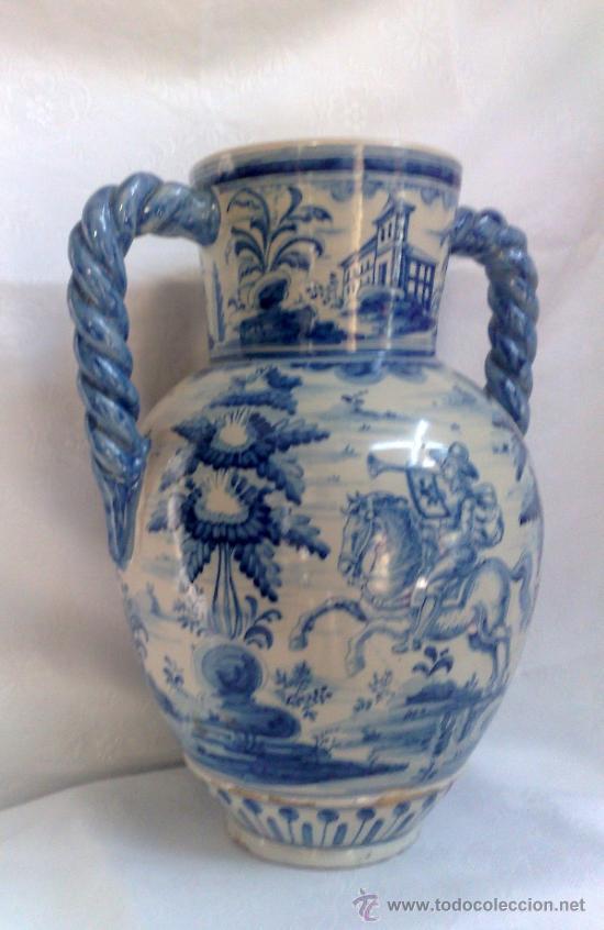 Antigüedades: RUIZ DE LUNA.- JARRÓN EN CERÁMICA DE TALAVERA. PPOS. XX - Foto 5 - 30021060