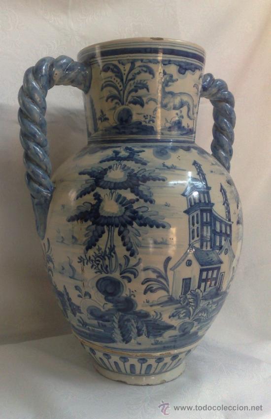 Antigüedades: RUIZ DE LUNA.- JARRÓN EN CERÁMICA DE TALAVERA. PPOS. XX - Foto 7 - 30021060