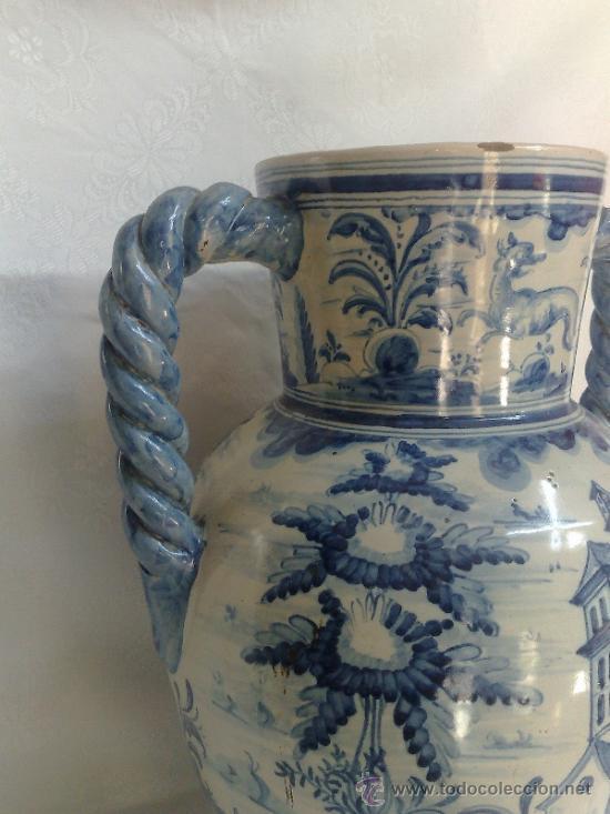 Antigüedades: RUIZ DE LUNA.- JARRÓN EN CERÁMICA DE TALAVERA. PPOS. XX - Foto 11 - 30021060