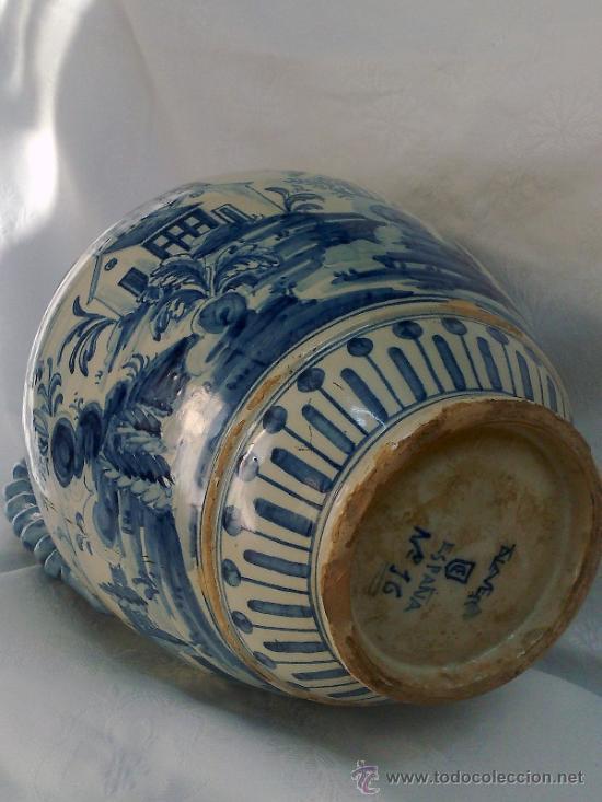 Antigüedades: RUIZ DE LUNA.- JARRÓN EN CERÁMICA DE TALAVERA. PPOS. XX - Foto 12 - 30021060