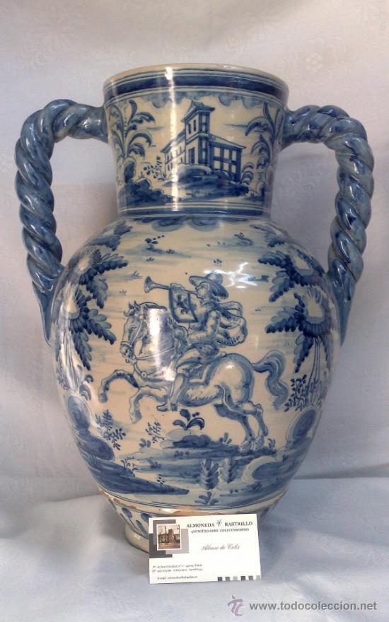 Antigüedades: RUIZ DE LUNA.- JARRÓN EN CERÁMICA DE TALAVERA. PPOS. XX - Foto 2 - 30021060