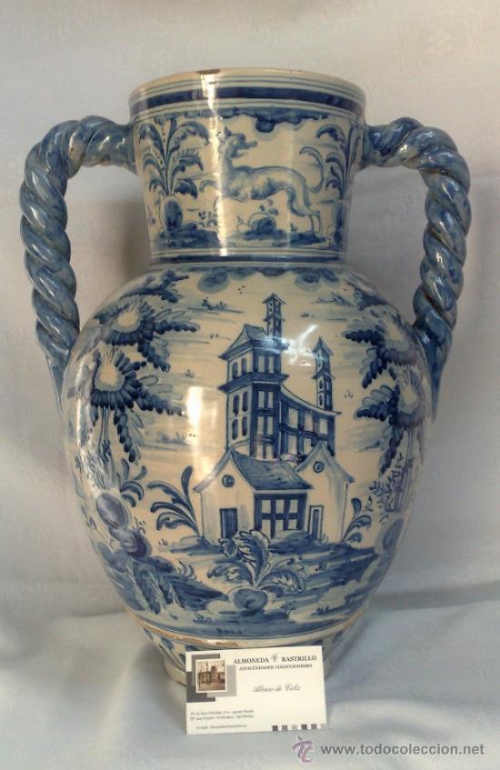Antigüedades: RUIZ DE LUNA.- JARRÓN EN CERÁMICA DE TALAVERA. PPOS. XX - Foto 15 - 30021060