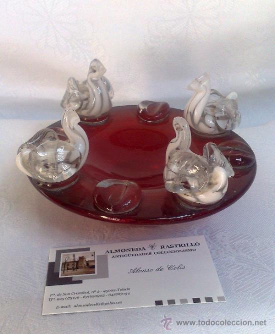 Antigüedades: ANTIGUO CENICERO EN CRISTAL DE MURANO - Foto 2 - 26774119