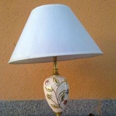 Antigüedades: PRECIOSA LAMPARA EN CERAMICA Y METAL.. Lote 30911244