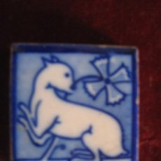 Antigüedades: AZULEJO DE MANISES ( HOLAMBRILLA ) TECNICA DE ESTARCIDO. PPOS. S/ XX. Lote 30924011