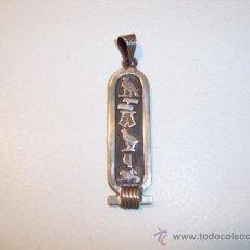 Antigüedades: COLGANTE EGIPCIO -EN PLATA DE LEY -. Lote 30937365