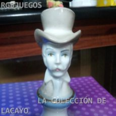Antigüedades: PERSONAJE PORCELANA BISCUIT CABALLERO. Lote 30939075