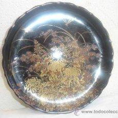 Antigüedades: BANDEJA RESONDA DE PORCELANA ORIENTAL DEOCRATIVA. Lote 30942498