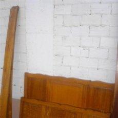 Antigüedades: CAMA DE MADERA DE CASTAÑO. Lote 30943091