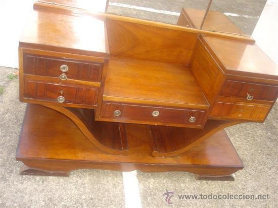 Antigüedades: mueble tocador en madera de castaño estilo Ardeco - Foto 2 - 113487139
