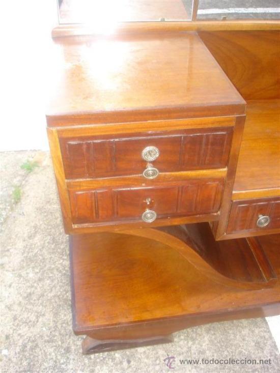 Antigüedades: mueble tocador en madera de castaño estilo Ardeco - Foto 3 - 113487139