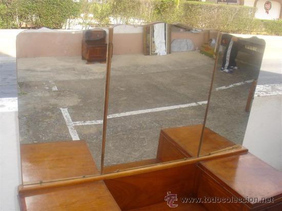 Antigüedades: mueble tocador en madera de castaño estilo Ardeco - Foto 4 - 113487139
