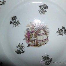 Antigüedades: PAREJA DE PLATOS DE PORCELANA FRANCESA. Lote 30946263