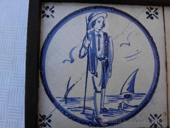 Antigüedades: Antiguos azulejos Delft finales del siglo XVIII - Foto 3 - 30949276