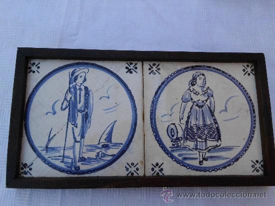 Antigüedades: Antiguos azulejos Delft finales del siglo XVIII - Foto 4 - 30949276