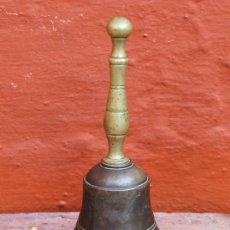 Antigüedades: ANTIGUA CAMPANA EN BRONCE PESO 157 GR. Lote 30950757