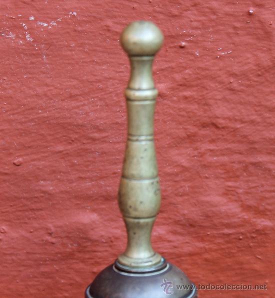 Antigüedades: ANTIGUA CAMPANA EN BRONCE PESO 157 GR - Foto 3 - 30950757