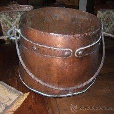 Antigüedades: CAZO COBRE QUESERA. Lote 30960456