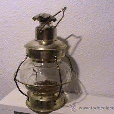 Antigüedades: MAGNÍFICO FAROL TIPO BARCO. Lote 30960702