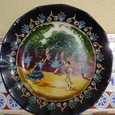 Antigüedades: - VINTAGE 3 ANTIGUOS PLATOS RECUERDO DE SEVILLA REALIZADOS A MANO PLATO. Lote 72717382