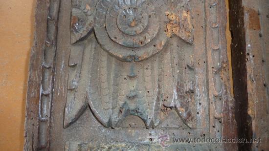 Antigüedades: Pareja de apliques de pared barrocos, originales de s.XVIII. En madera tallada. - Foto 8 - 30990990