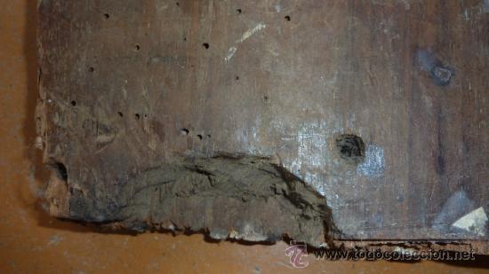 Antigüedades: Pareja de apliques de pared barrocos, originales de s.XVIII. En madera tallada. - Foto 11 - 30990990