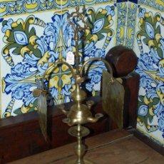 Antigüedades: VELÓN. LÁMPARA DE ACEITE. BRONCE. S XIX.. Lote 30989783