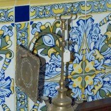 Antigüedades: VELÓN. LÁMPARA DE ACEITE. BRONCE. S XIX.. Lote 30989814