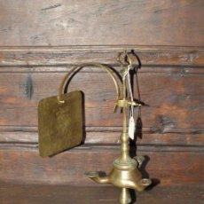 Antigüedades: VELÓN. LÁMPARA DE ACEITE. BRONCE. S XIX.. Lote 30989876