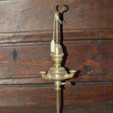 Antigüedades: VELÓN. LÁMPARA DE ACEITE. BRONCE. S XIX.. Lote 30989894